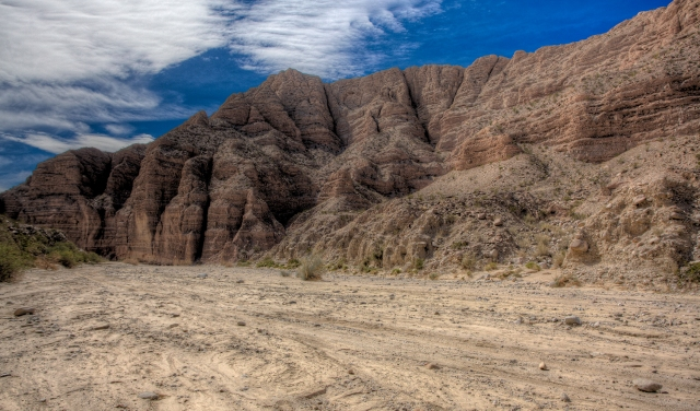 On the Ocotillo Wells end of Split mountain and the Fish Creek Wash Rd.  (Click to Enlarge)