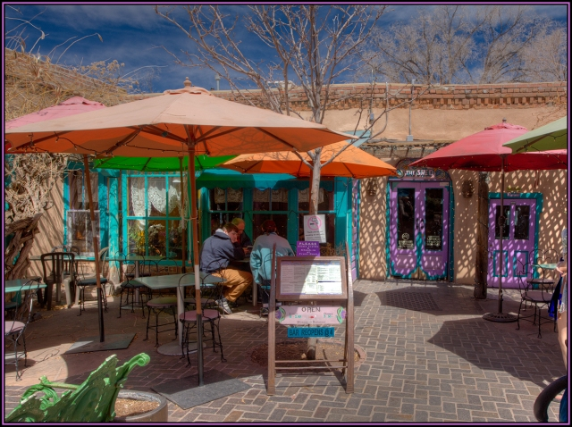 """The Shed"" restaurant in Santa Fe.  One of the best places for lunch in all of the town.  Click on image to see an enlarged version."