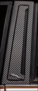 "Carbon fiber treatment to ""B"" pillars"