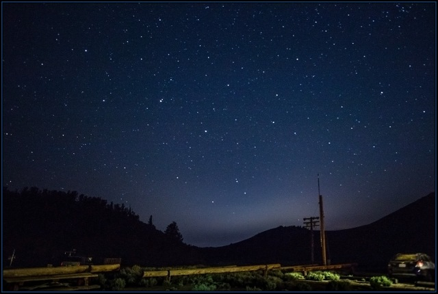 Night sky from the WMRS lodge.