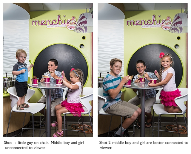 The two shots used in the composite.  In addition to dropping the little boy from the left hand shot into the right hand shot, the cables needed removing and walls given better exposure along with brightening up the logo.  Canon 5D Mk III