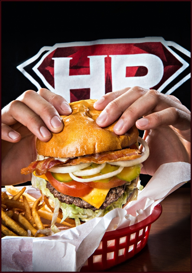 Cover shot for Halphen Red Hamburgers in Chula vista, CA.  Shot with Canon 5D Mk III.