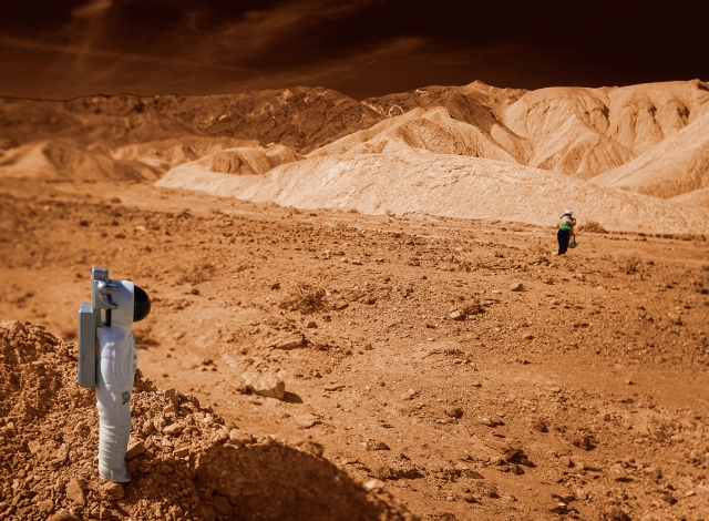 The Mision Control scientists were surprised when they received the first photos back from the Mars exploration team.