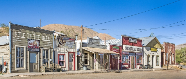 Group of shops along Randsburg's main street