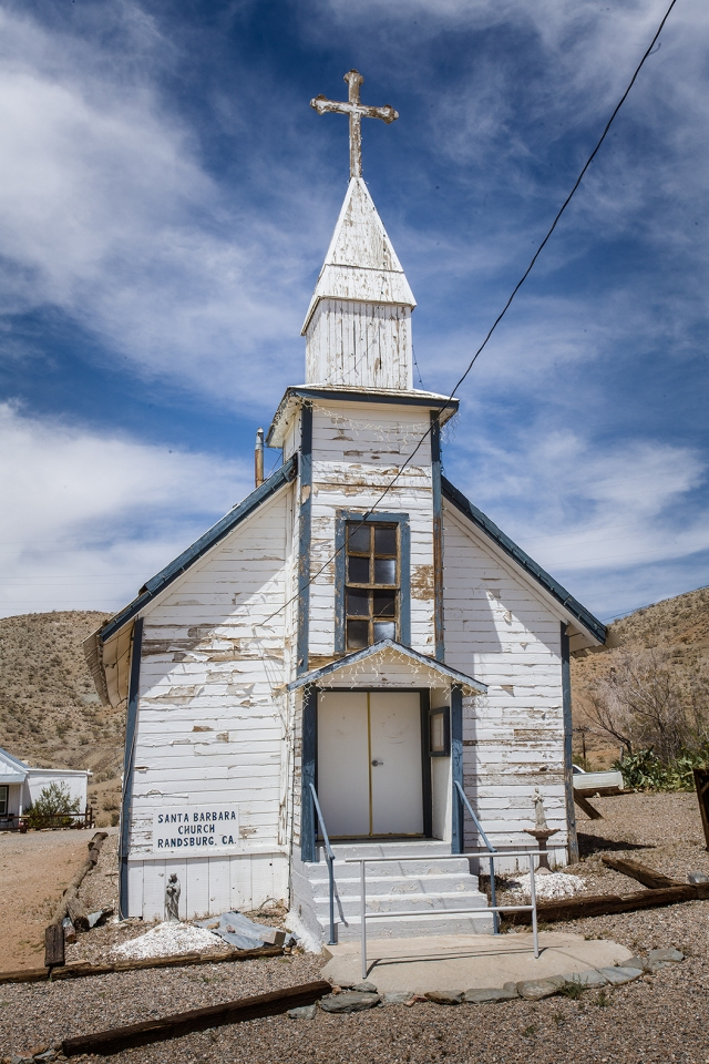 "Church in Randsburg.  It seems fitting it is at the opposite end of town from the ""Floozy House."""