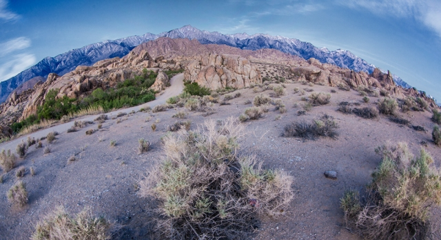 15mm extreme wide angle of Sierras at Dawn
