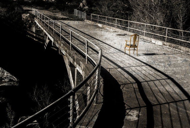 Charon's Chair.  The 1913 bridge on the Black Canyon Rd.  Canon 5D MkII with Canon 50mm f1.8 lens.