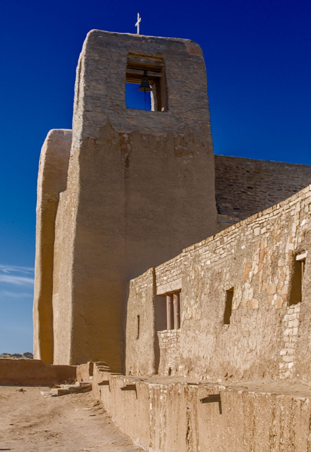 The mission at Acoma.  No photos were allowed of the courtyard which is also a cemetery, nor inside the sanctuary where indian symbolism shares space with Catholic iconography over the huge open space with its packed earth floor.  They were getting ready to resurface the floor for the holiday events.