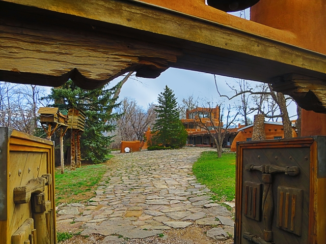 "The Mabel Dodge Luhan house in Taos.  This was the scene of famous artistic gatherings and ""Salons"" in the early 20th century, hosted by socialite and art connoisseur Mabel Dodge Luhan.  Famous painters, photographers, musicians, and writers assembled here to talk art and creativity.  If I am successful I am trying to create a photography workshop based out of this place just dripping with residue creativity."