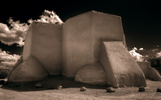 Apse of Mission de San Francic de Asis in Taos, NM.  Canon 5D Mk II.