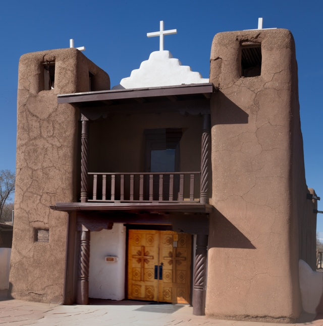 the iconic Mission de San Geronimo in the Taos Pueblo, Taos, NM.  Canon 5D Mk II.  Click to enlarge.