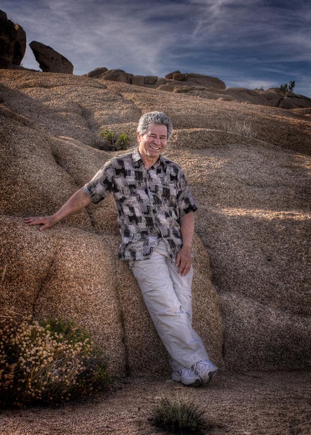 Portrait of Dave Barrertt.  Taken in Joshua Tree NP
