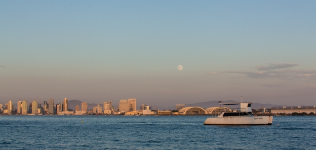 Location scout test for supermoonrise from Shelterr Island.  This test shot with Canon 5D MkII