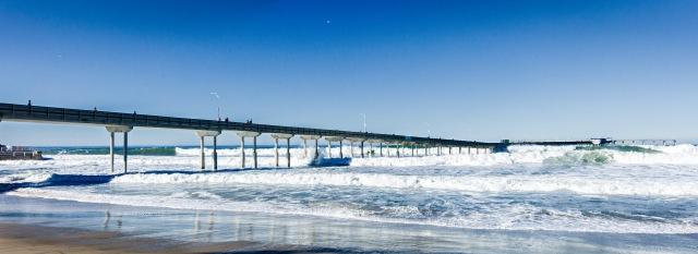 The Ocean Beach Pier shot with Canon 24mm Tilt Shift lens.