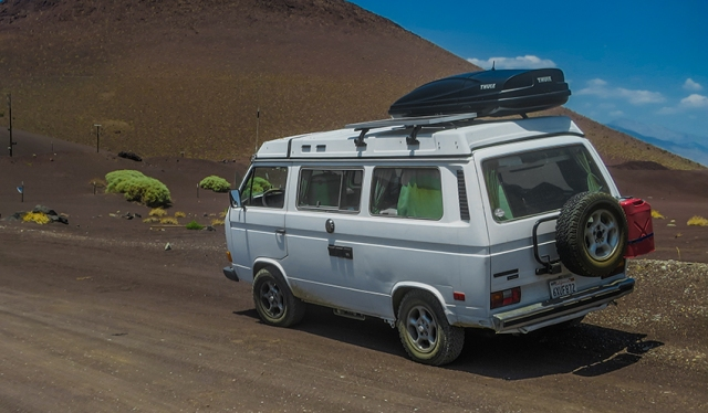 van at cinder cone for blog